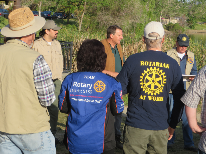 Sunrisers receive instruction from California Department of Fish & Wildlife