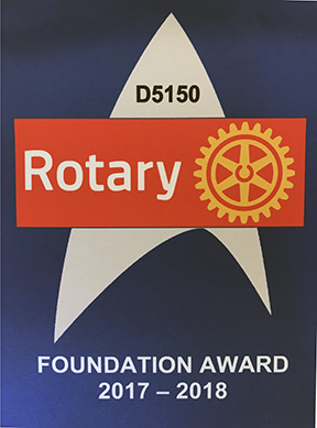 TRF (The Rotary Foundation) Award